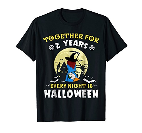Together For 2 Years T-shirt Every Night Is (Halloween Costumes 2016 Ideas For Couples)