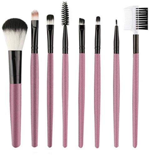 8 Piece Makeup Brushes Set Eye Shadow Blending Fan Cosmetic