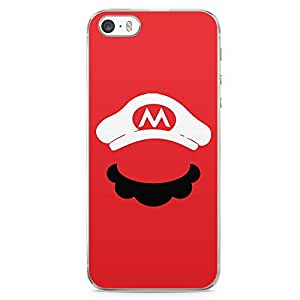 Loud Universe Red Super Mario Character iPhone 5 / 5s Case Red iPhone 5 / 5s Cover with Transparent Edges