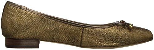 Anne Klein Womens Ovi Reptile Ballet Flat Metallic/Bronze QvCJC4uI