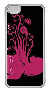 MEIMEICustomized iphone 4/4s PC Transparent Case - The Pink Flower Girl Personalized CoverMEIMEI