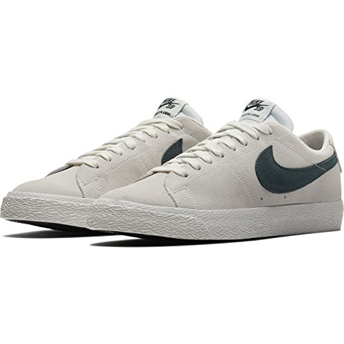 Nike Sb Zoom Blazer Low Summit Bianco / Jungle Sz 9.0