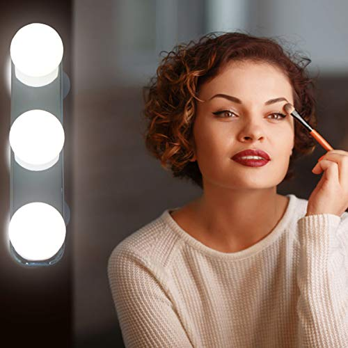 Hollywood Style LED Vanity Lights Kit, Travel Portable Makeup Mirror Lights With - Style Bathroom Mirrors Hotel