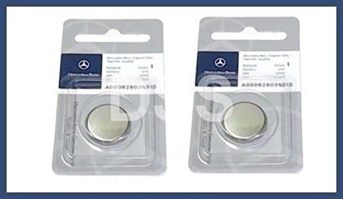 Mercedes-Benz Remote Key Battery Keyless Entry Genuine Original 0000388 (2pcs) ()