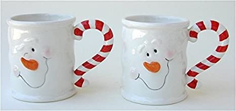 ganz ceramic christmas mugs set of two snowmen - Cheap Christmas Mugs
