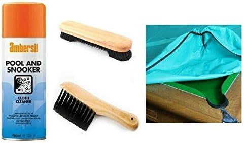 Homegames - Juego de productos de mantenimiento para mesas de billar, funda de 2 metros, cepillos, y producto de limpieza del tejido: Amazon.es: Hogar