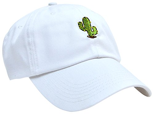 skyed-apparel-cactus-embroidery-adjustable-baseball-cap-hat-white