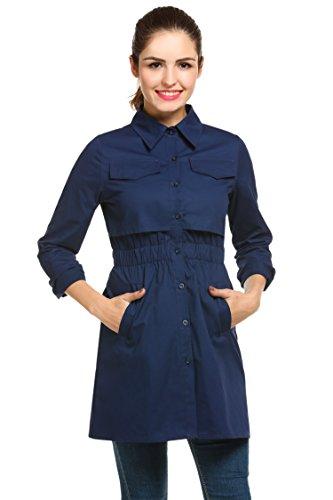 womens outdoor windproof lightweight jacket navy blue