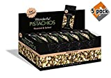 Wonderful Pistachios, Roasted and Salted, 1.5 Ounce (Pack of 24) - 5 Pack