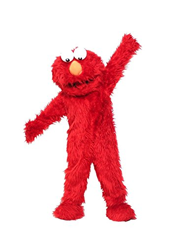 Elmo Mascot (Red Elmo Mascot Costume Halloween Costumes Chirstmas Party Adult Size Fancy Dress)