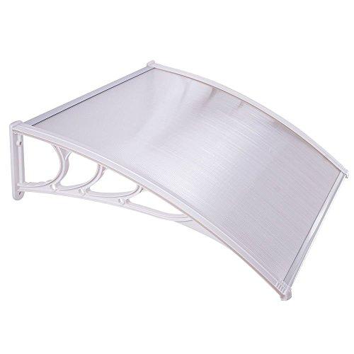 Triprel Inc. 39.4'' x 39.4'' Window Awning Door Sun Shade Canopy Hollow Sheet UV Rain Snow Protection - CLEAR by Triprel Inc