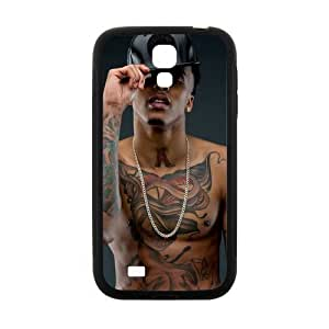 Zyhome Galaxy S4 Cool August Alsina Tattoo Design Case Cover for SamSung Galaxy S4 I9500 (Laser Technology)