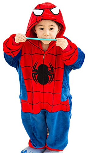 Children Costumes Kigurumi Pajamas Animal Onesies Cosplay Romper Playsuit Spiderman Size 125 (Spiderman Cosplay For Sale)