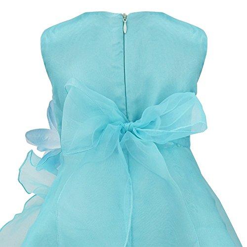CHICTRY Bébé Enfant Robe en-Remise Baptême Robe Fille Cérémonie Soirée Robe  Fleurie Tutu Jupe à Volants Robe été Robe de Princesse de Mariage 3Mois -  3Ans  ... 94a63dfb9e7