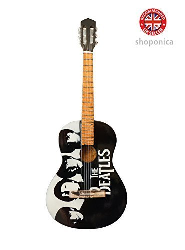 The Beatles Tribute Holz Miniatur-Gitarre