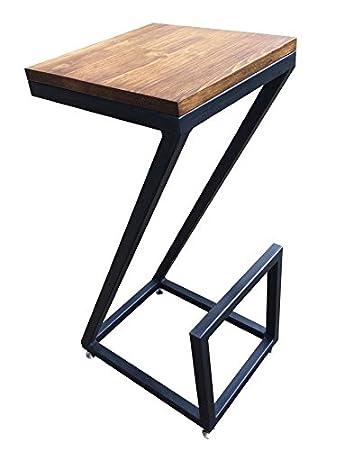 Sedie Legno E Ferro.Sgabello Sedia Design Moderno In Legno E Ferro Vintage Amazon It