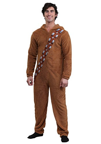 Bioworld Star Wars Chewbacca Wookiee Adult Hooded Costume Union Suit (Medium) (Chewbacca Costume For Sale)