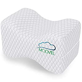 Modvel Orthopedic Knee Pillow | Memory Foam Cushion For Hip, Sciatica & Lower Back Pain Relief | Provides Support & Comfort | Breathable & Washable | Between-The-Legs Pregnancy (MV-104)