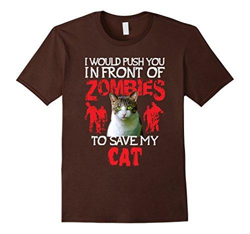 Mens Kitty Cat Lovers T-Shirt - Zombie Halloween Costume Idea 2XL (Cat Zombie Halloween Costume)
