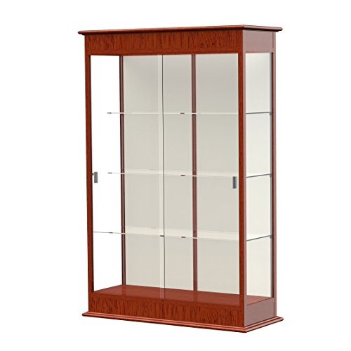 Waddell Varsity Sliding Doors Lighted Display Case, 48W by 77H by 18