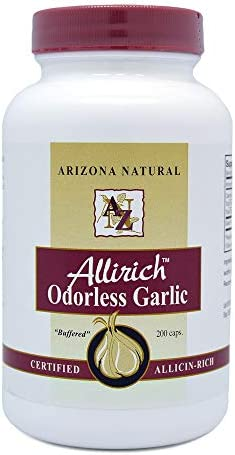 Arizona Natural Allirich Allicin-Rich Odorless Garlic Soft-gels