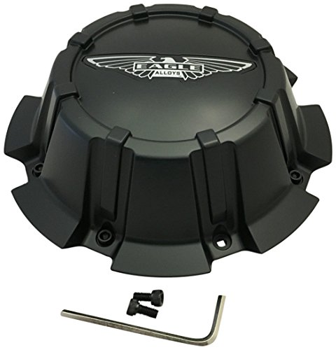 American Eagle Alloy 3274 3274-08 Flat Matte Black Wheel Center Cap