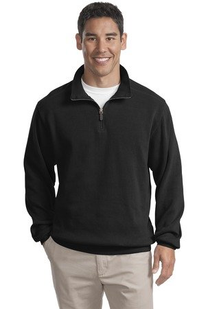 Port Authority Men's Port Authority Flatback Rib 1/4-Zip Pullover. 4XL Black