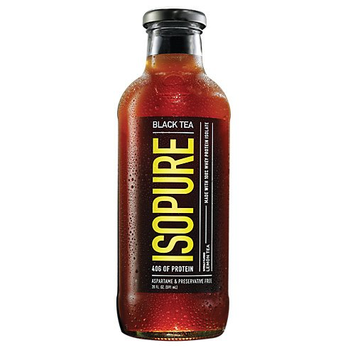 Nature's Best Isopure Black Tea Lemon - Liquid Protein Zero Carb Ready-To-Drink Post Workout Beverage - 20 Ounce/12 Pack