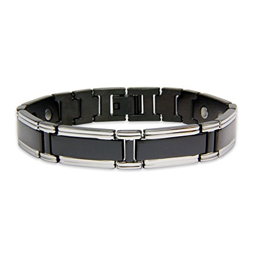 magnets4 Neutrino Men's Rare Earth Magnetic Bracelet with Fold Over Clasp by magnets4