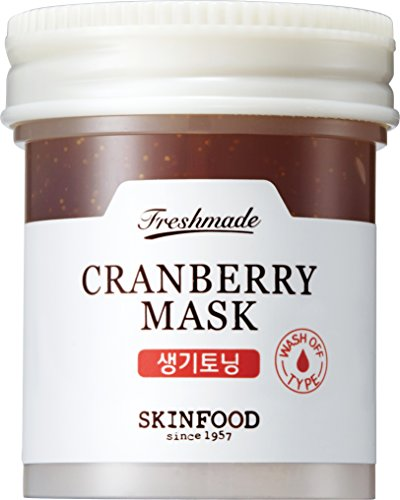 Skinfood FRESHMADE Cranberry Facial Mask, Toning Brightening and Revitalizing, Gel type Wash-off (90 ml)