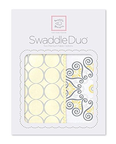 SwaddleDesigns SwaddleDuo Swaddling Blankets Medallion