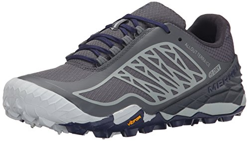 Merrell All Out Terra Ice Wtpf - Zapatillas de running Mujer Grey/Royal Blue
