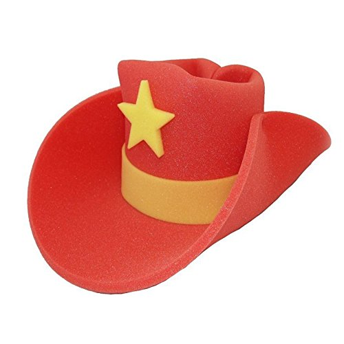 Price comparison product image Giant RED Foam Cowboy Western Novelty Hat
