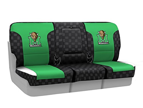 Coverking Custom Fit Front 40/20/40 NCAA Licensed Seat Cover for Select Nissan Titan Models - Neosupreme (Marshall University) by Coverking