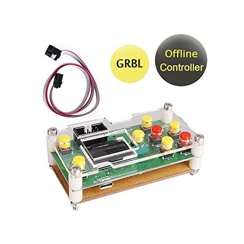 GRBL Offline Controller, CNC Router Offline Control Module Offline Working Remote Hand GRBL Controller LCD Screen for CNC Laser Engraving Milling Machine Wood Router ()