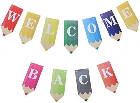 TINKSKY ガーランド 歓迎バナー 装飾 カラフル ハンギング インテリアパーティー 壁掛け 誕生日 パーティー ホオジロインテリアレターバナー用ホーム廊下モールショップ