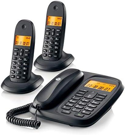 デジタル電話 LCDディスプレイ、三者通話、発信者IDを持つデジタルコードレス電話、ポータブルデスクトップ、 (Color : Black, Size : 2)