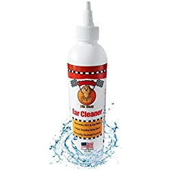 Dog & Cat Ear Cleanser & Infection Treatment Prevention, Pet Ear Solution, Stops Itching, Head Shaking, Discharge & Odor, Ear Mites, Pet Ear Wash & Wax Remover, Symptom Relief By Doggie Pit Stop 8 oz
