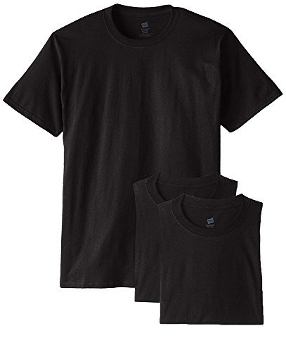 Believe White T-shirt - Hanes Men's 3 Pack Crew Neck Tee Undershirt T-Shirt Black XXX-Large