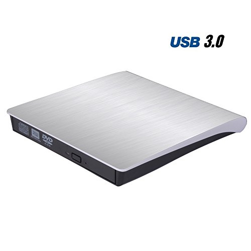 Padarsey DVD Drive for Laptop, Sibaok Portable USB 3.0 DVD-RW Player CD Drive, Optical Burner Writer Rewriter for Mac Computer Notebook Desktop PC Windows 7/8/10, Slim White by Padarsey (Image #6)