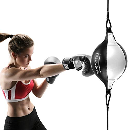 VAlinks Speed Bag with Free Air Pump, Boxing Speed Ball Punching Bag for MMA Muay Thai Fitness Workout Training Fight…