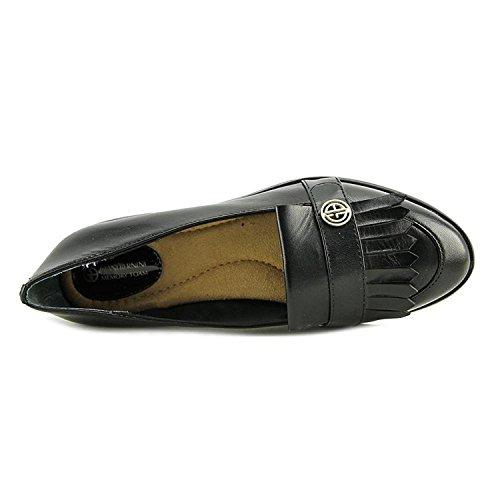 Giani Bernini Dames Petaa Leer Met Gesloten Teen Loafers, Zwart, Maat 6.0
