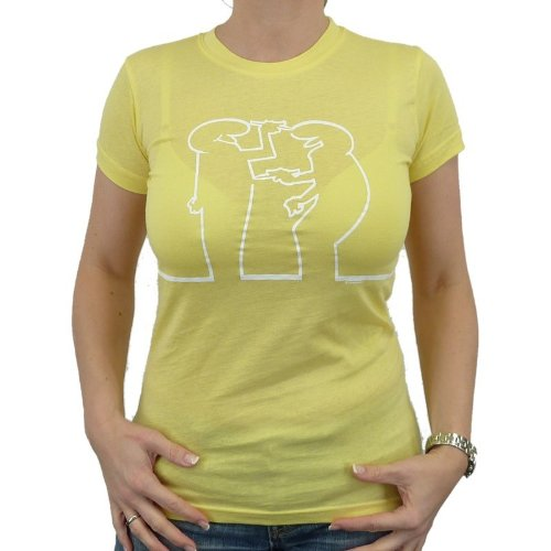 La Linea – Draw Me Girlie T-shirt, Lemon