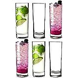 Arcoroc Islande Hiball Glasses 12. 7oz / 360ml - Set of 6 | 36cl Highball Tumblers, Arc Tumblers