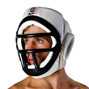 ProForce Headguard With Face Cage - White - Medium