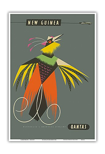 new-guinea-raggiana-bird-of-paradise-qantas-empire-airways-qea-vintage-airline-travel-poster-by-harr