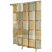 Cortina de ducha de tela de mosaico para hogar de ex-celdas, terracota