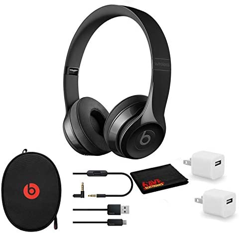 Beats by Dr. Dre Beats Solo3 Wireless On-Ear Bluetooth Headphones (Gloss Black/Core) - KitUSB Adapter Cube