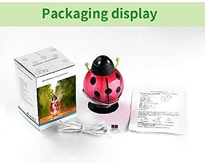 Ocamo Mini Portable Mist Humidifier LED Night Light 260ml USB Beetle Air Purify Ultrasonic Humidifier Aroma Aromatherapy Essential Oil Diffuser