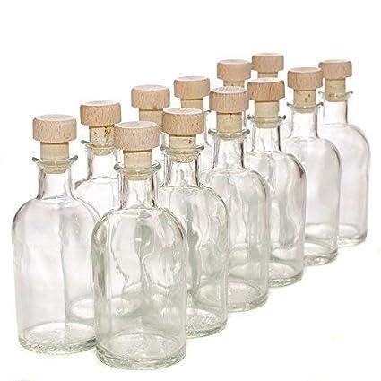 Pack de 12 botellas de cristal italiano - Con tapones de ...